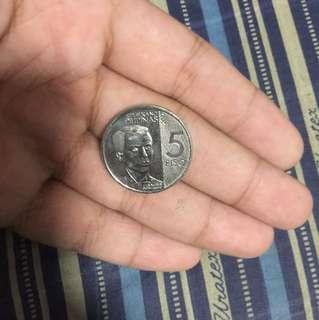 NEW 5 PESO COIN