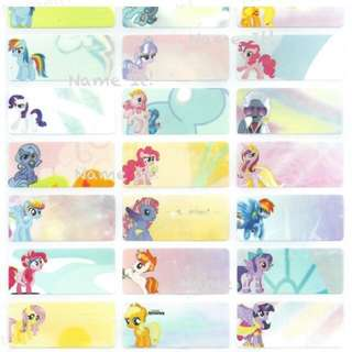 Little Pony Customised Name Stickers