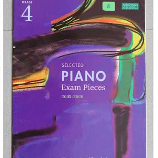 Music book :  Piano Exam Pieces 2005-2006 ( Grade 4 )