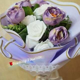 玫瑰花燈絲花花束