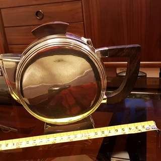 古舊銀器,擺放多年,咖啡壼3件一套,外國回流,見圖。