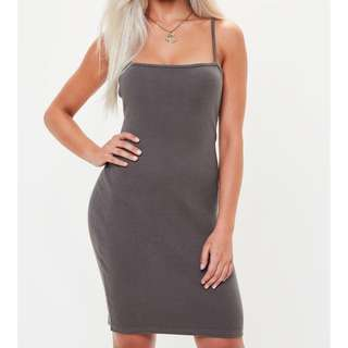 Missguided ribbed bodycon dress