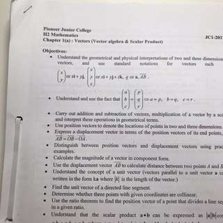 PJC H2 Math Lecture Notes