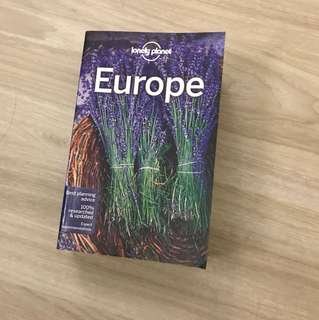BN Europe Book by lonelyplanet