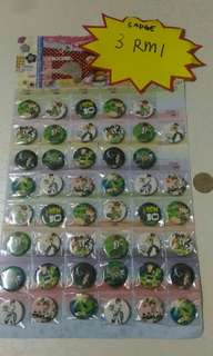 3 for rm1 Button badge ben10
