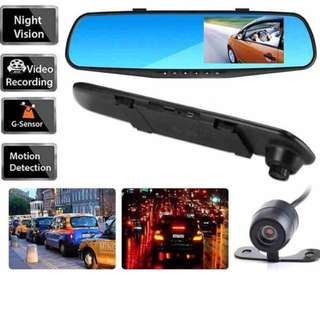 Car Camera - Mirror with Large 4.3 inch LCD front and Rear / Reverse Camera