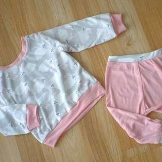 Bunny sweater set || baju bayi