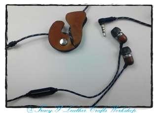 Handmade 真皮_英文字母 earphone holder