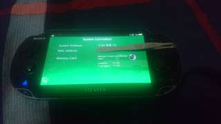 Modded ps vita 3.6 with 16gb memory card