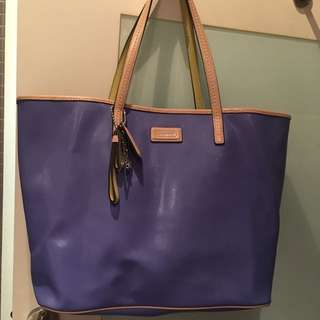 90%新 Coach Blue Tote Bag 大袋