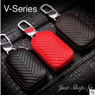 V Series Leather FOB / Key Pouch