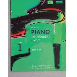 Music book :  Piano Exam Pieces 2003- 2004 ( Grade 1 )