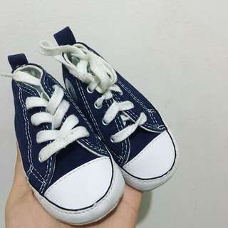 Authentic Converse Crib Shoes in Navy Blue