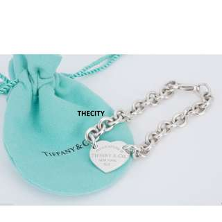"AUTHENTIC TIFFANY ""RETURN TO TIFFANY & CO"" HEART CLASP BRACELET IN SILVER"