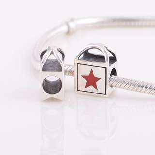 Code MS74 - Shopping Bag With A Star 100% 925 Sterling Silver Charm, Chain Is Not Included, Compatible With Pandora