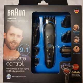 Braun 9 in 1 Head To Toe Trimming Kit