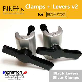BIKEfun Hinge Clamps & Levers (v2) (for Bromptons)