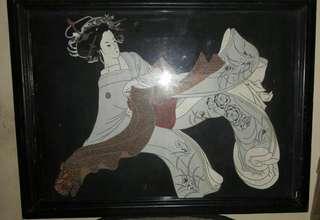 Lukisan Jepang Kain Lama