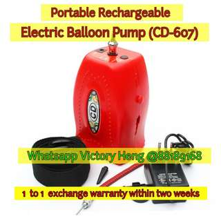 Portable Rechargeable Electric Balloon Pump