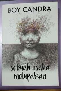 Novel SEBUAH USAHA MELUPAKAN by Boy Chandra