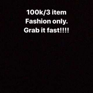 Sale 100k/3 items