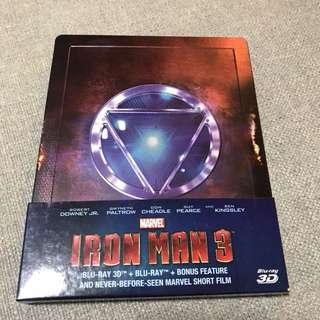 2-disc Metal casing 3-D Iron Man 3 Bluray