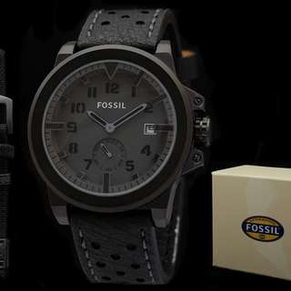 Fossil date leather