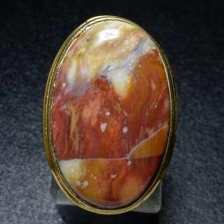 Cincin Batu Akik Pancawarna Pictorial Jasper Multicolour