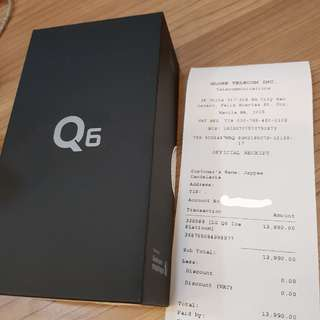 LG Q6 Globe locked(BRAND NEW)