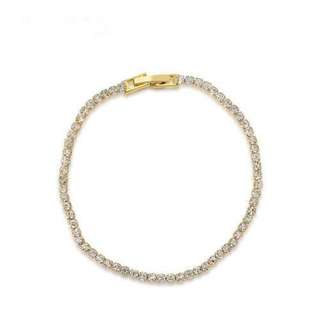 18K金單排鑲鉆手鏈/18K gold single row diamond bracelet