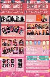 SHINee The First Concert - SHINee World Official Sticker Set