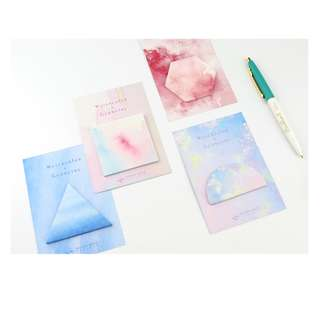 < preorder > watercolour geometry post it sticky note