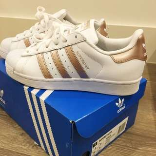Adidas Rose Gold Superstar Sneakers