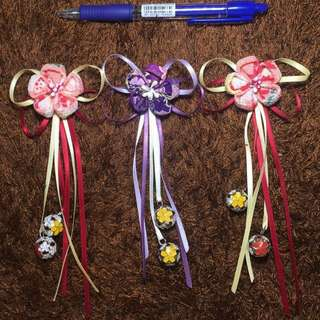 handmade Japanese / Chinese traditional hair clippers - cosplay or wedding, racial harmony celebrations