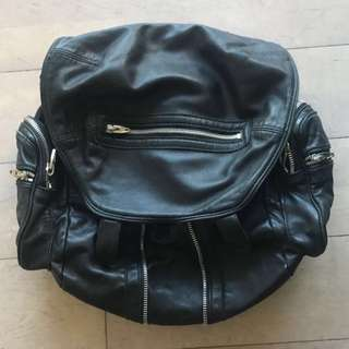 A. Wang classic leather backpack