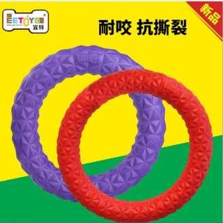 🚚 中號寵物耐咬圓環飛盤~紫環~可浮水面上~可玩拉扯