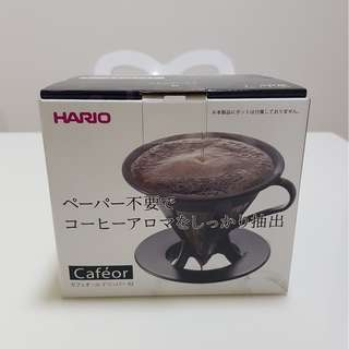 Hario Paperless Coffee Dripper Stainless Steel Filter 02 Black