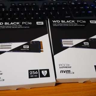 WD Black PCIe SSD NVMe M.2 256GB