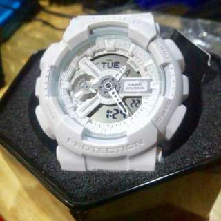 White G-Shock by Casio