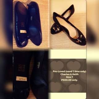 Charles & Keith Pre-loved shoes (black)