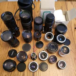 (Great Deal)Vintage Camera, Flashes,Tripods And Lots More all sold as a lot