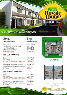 House And Lot for sale in Bulacan Rcd Royale Homes