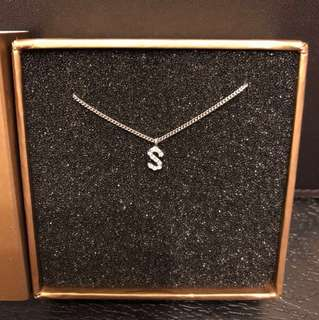 "arte madrid alphabet ""s"" bracelet 純銀手鏈,有盒"
