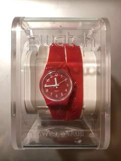 SWATCH RED SILICON WATCH