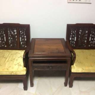 Antique chair & table