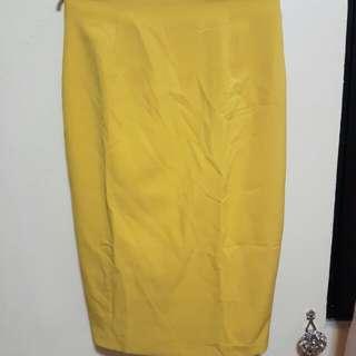 SM Woman Career - Pencil skirt mustard