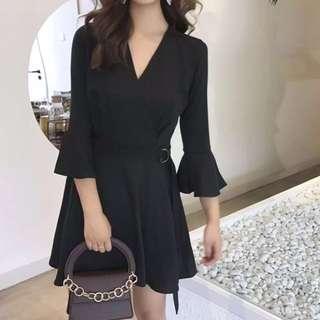 (Black) Joy Bell Sleeve Dress