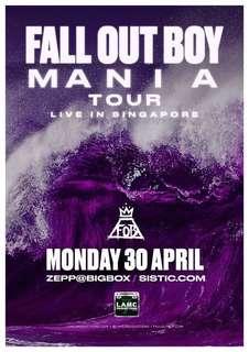 Fall Out Boy Mania Tour Singapore Tickets