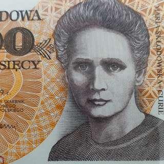 1989年 歐洲 波蘭20000兹羅堤 全新直版
