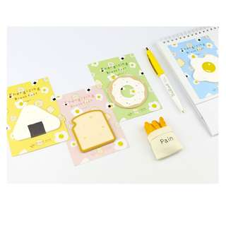 < preorder > breakfast post it sticky note